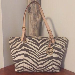 🌿 Michael Kors zebra bag